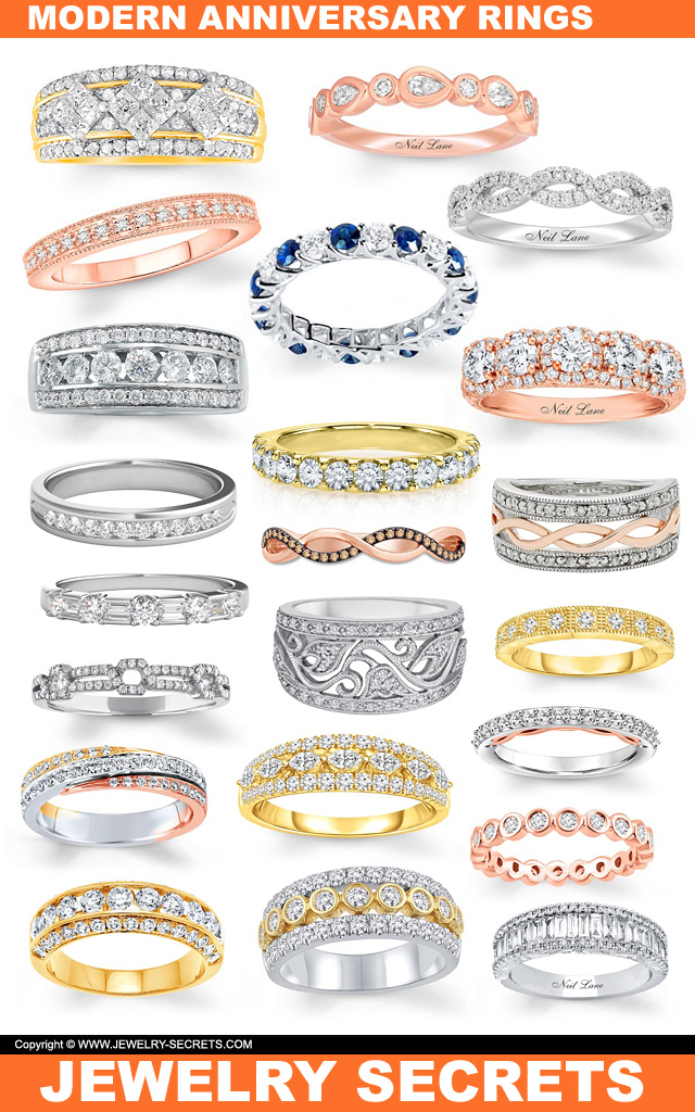 Modern Anniversary Rings