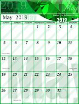 Free May Calendar 2019