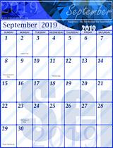Free September Calendar 2019