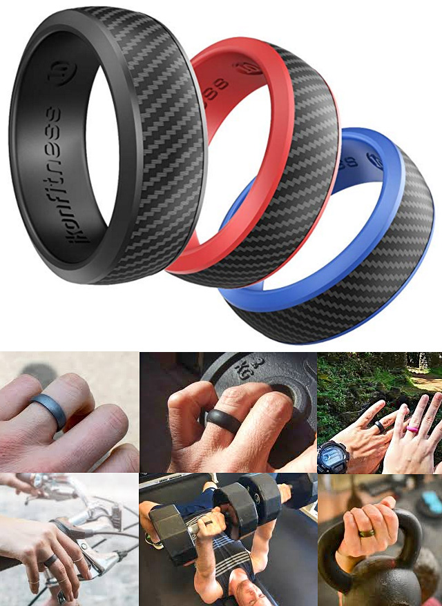 Mens Ladies Silicone Fitness Rings