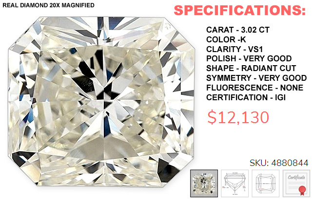 The Cheapest 3 Carat Diamond