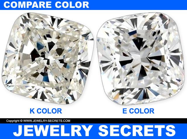 Compare Cushion Cut Diamond Color
