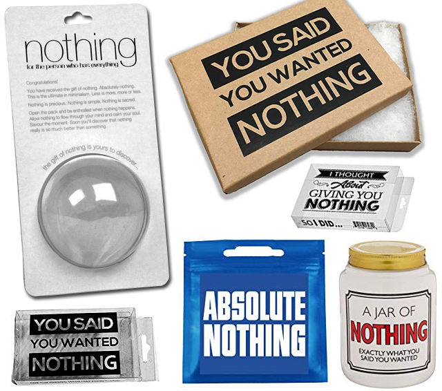 Great Gag Gift The Gift Of Nothing
