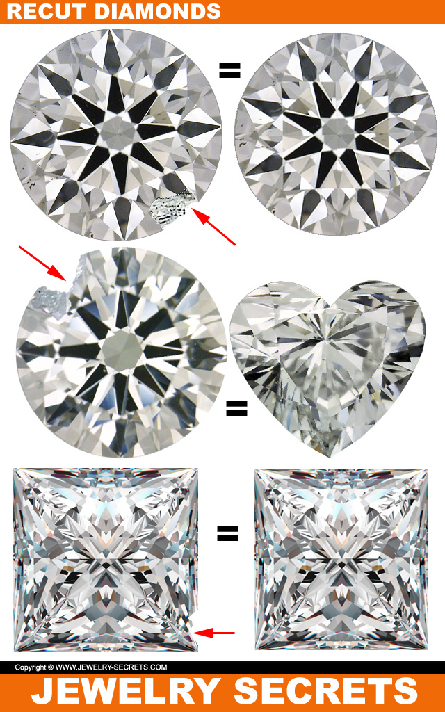 Diamonds Recut Smaller