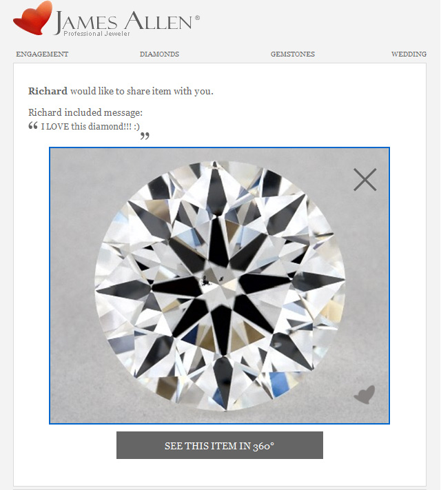 Hint Dream Diamond In Email
