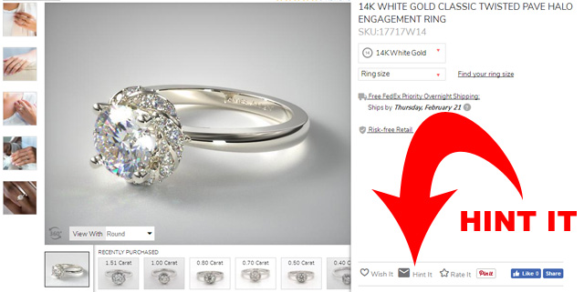 Hint Your Favorite Engagement Ring Setting