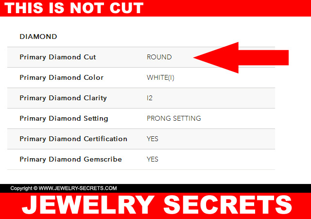 This is not diamond cut grade