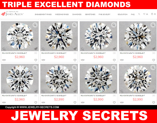 Triple excellent diamonds