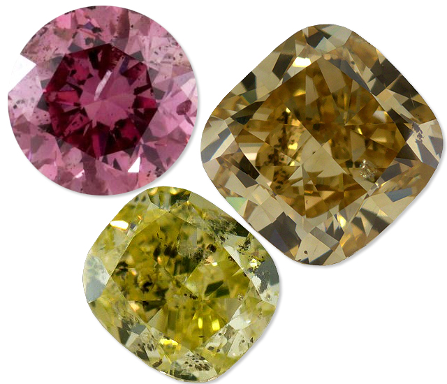 Fancy Color Diamonds With Inclusions