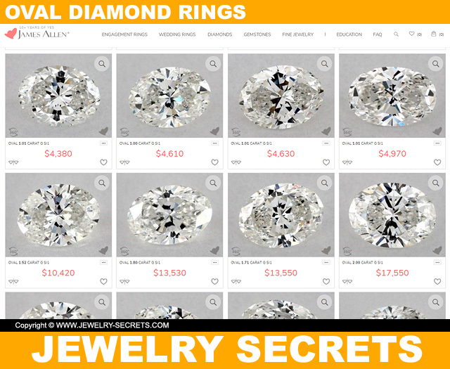 Oval Cut Diamonds From James Allen