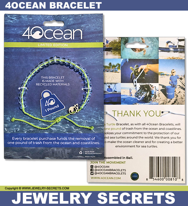 4Ocean Recycled Plastic Material Bracelet
