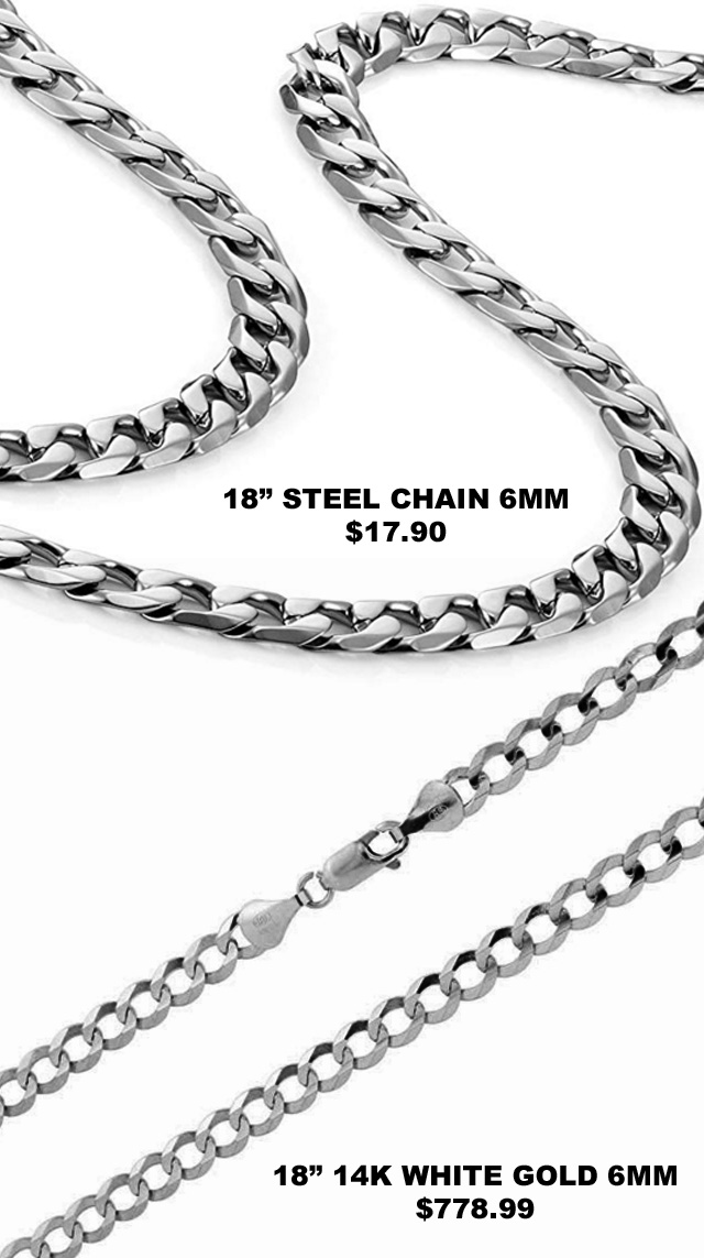 Difference Between Stainless Steel And White Gold Price