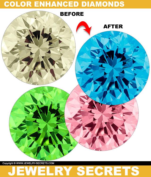 Heat Treated Color Enhanced Yellow Diamonds