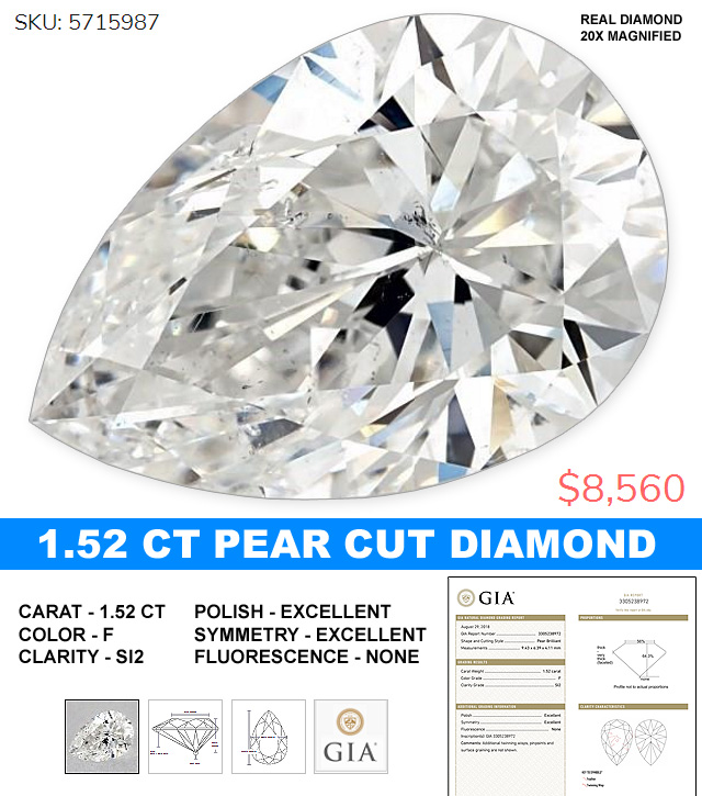 Perfect Pear Shaped Diamond