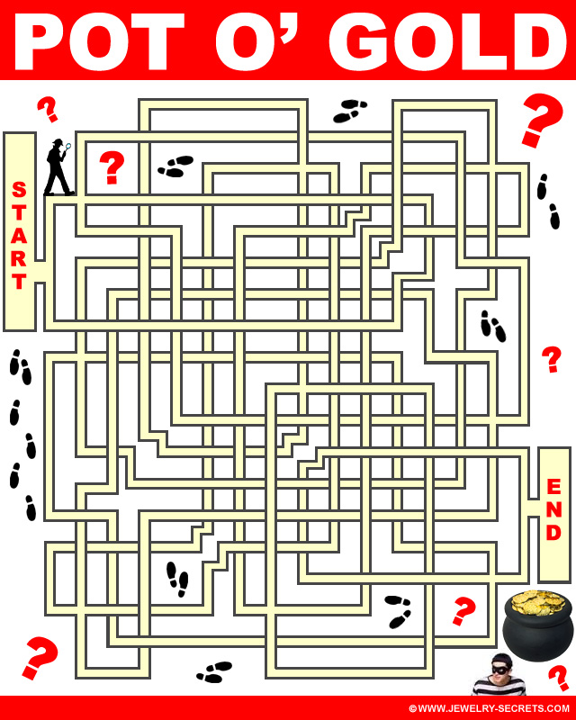 Pot O Gold Free Maze Puzzle