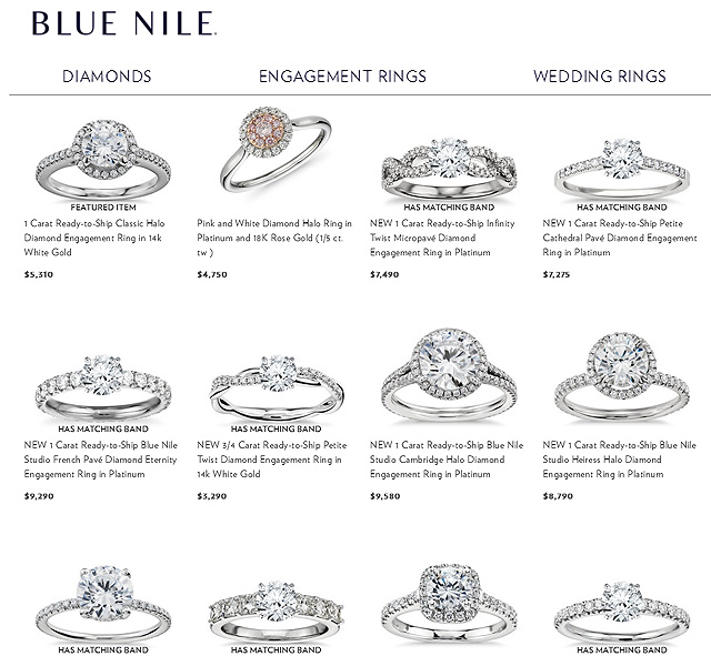 Ready To Ship Diamond Engagement Rings