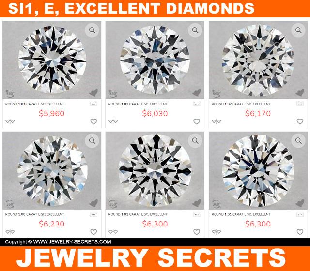 SI1 E Excellent Diamonds