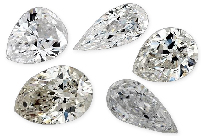 Undesirable Pear Shaped Diamonds
