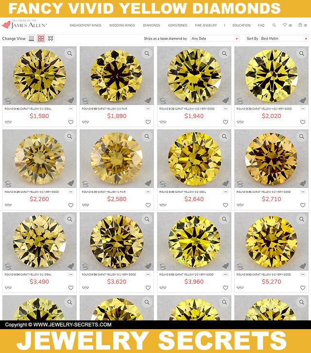 Yellow Fancy Vivid Diamonds