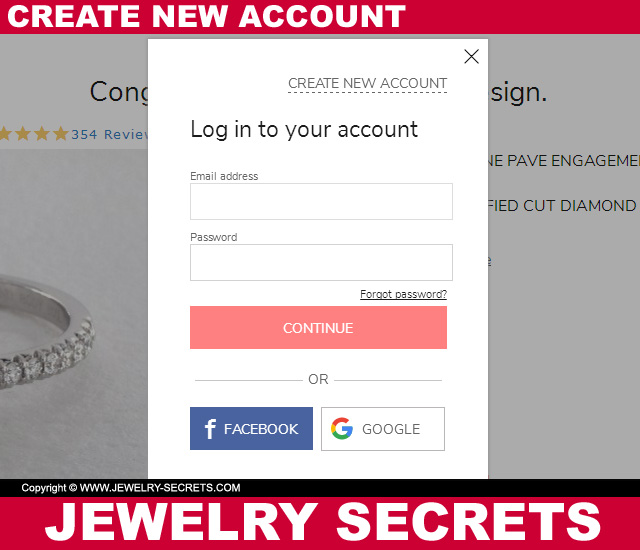 Create A New Account With James Allen