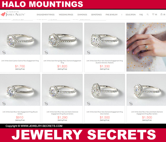 James Allen Halo Mountings