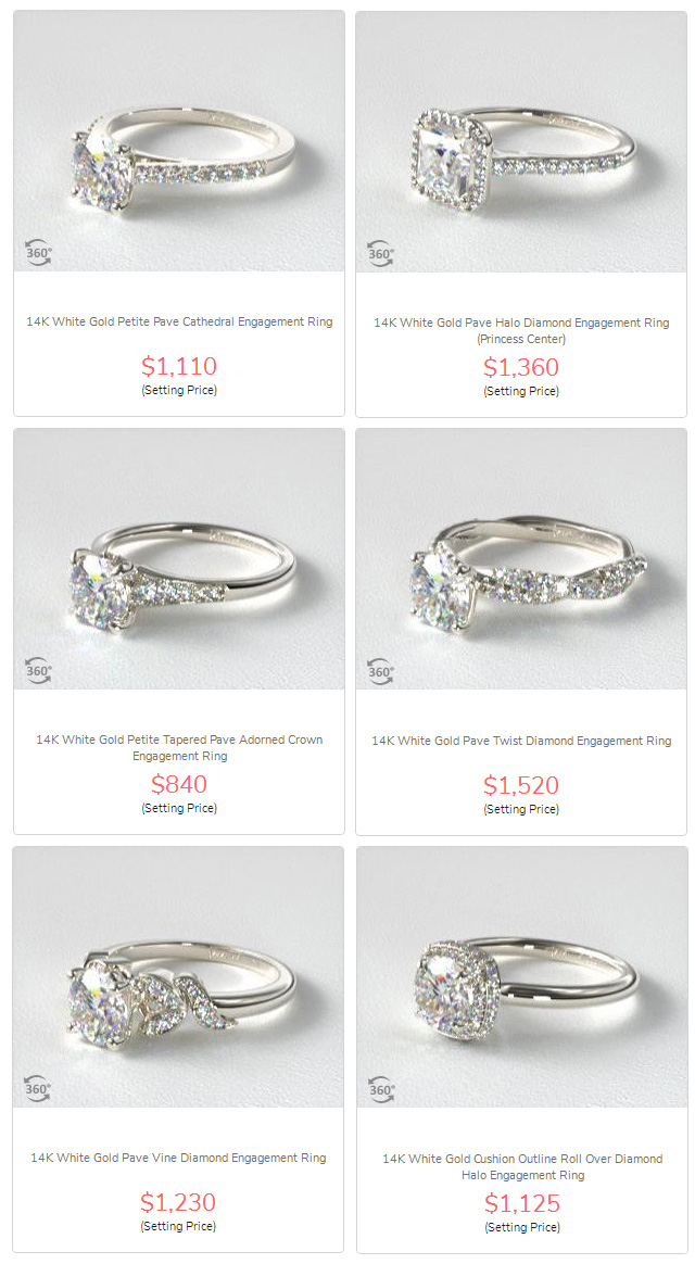 Popular Diamond Engagement Ring Prices