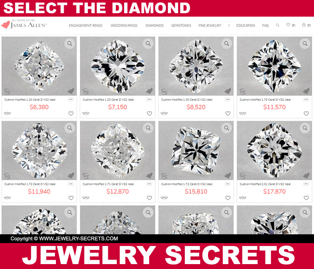 Select The Diamond You Want