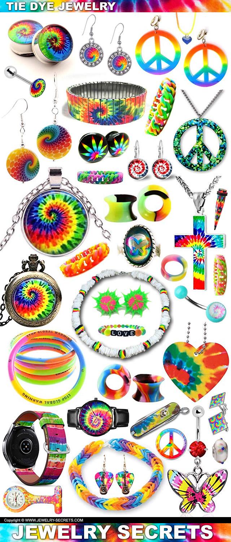 Tie Dye Jewelry Pendants Bracelets Earrings