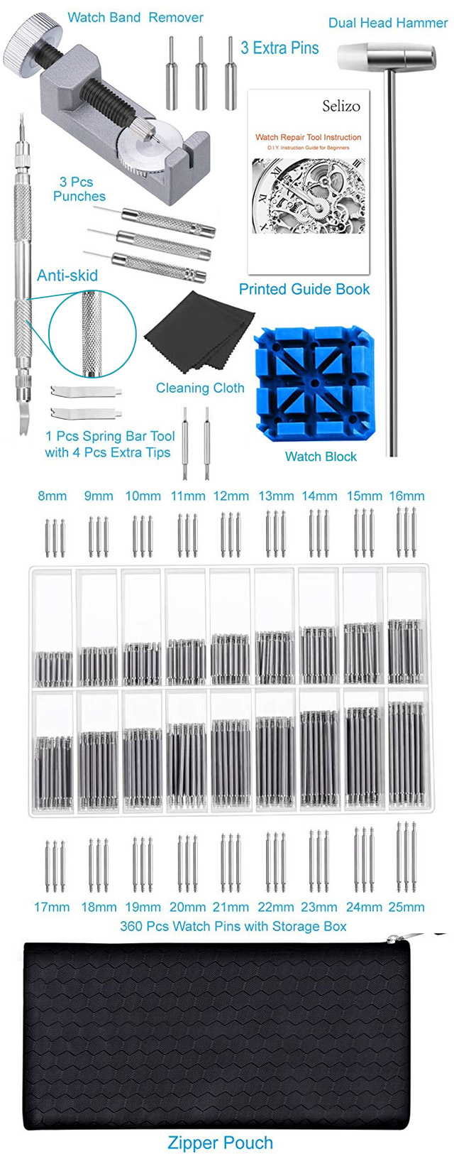 Watch Repair Kit Tools