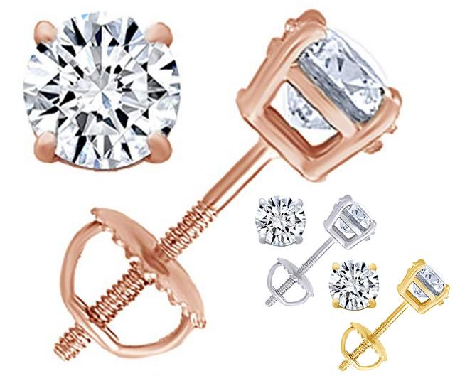 39-96 Gets You Real Diamond Stud Earrings