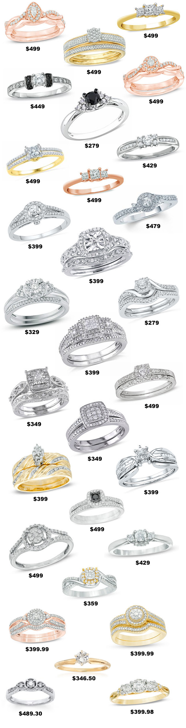 500 Dollar Diamond Rings