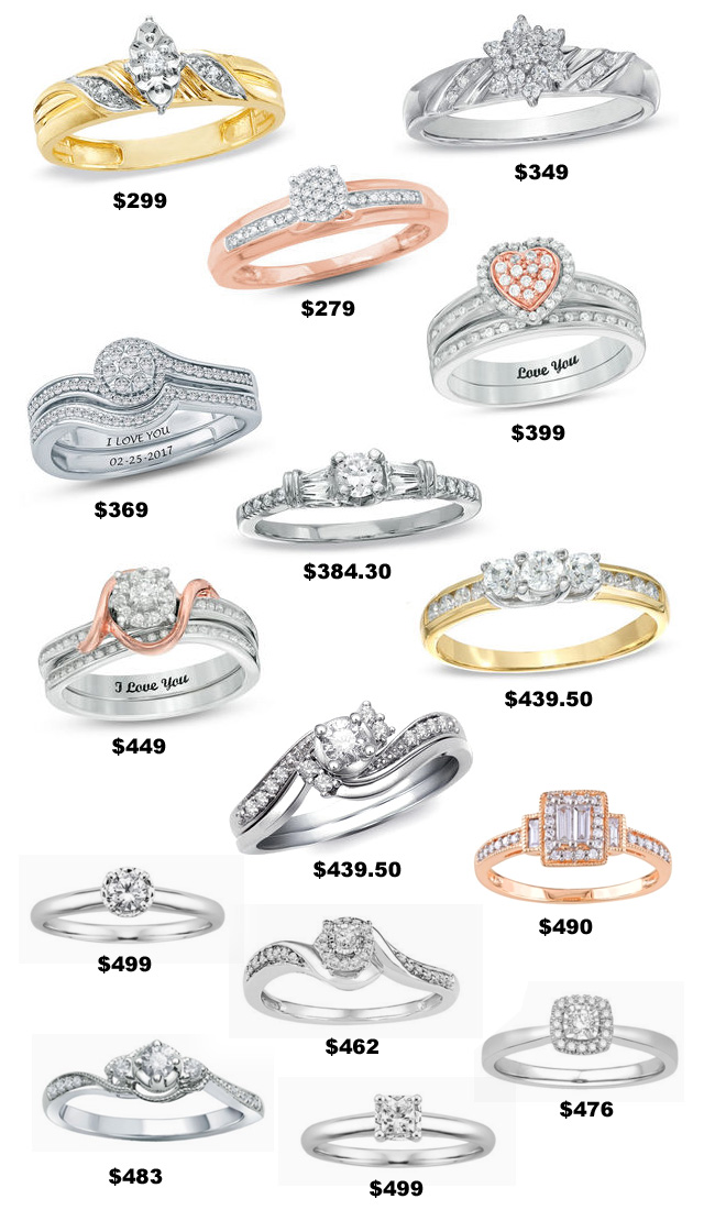 500 Dollar Engagement Rings