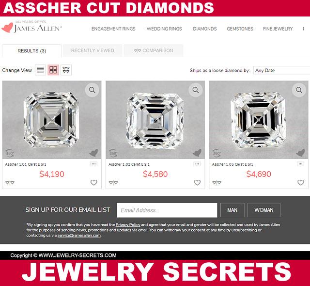Asscher Cut Diamond Prices