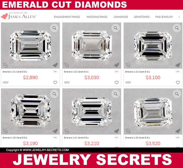 Emerald Cut Diamond Prices