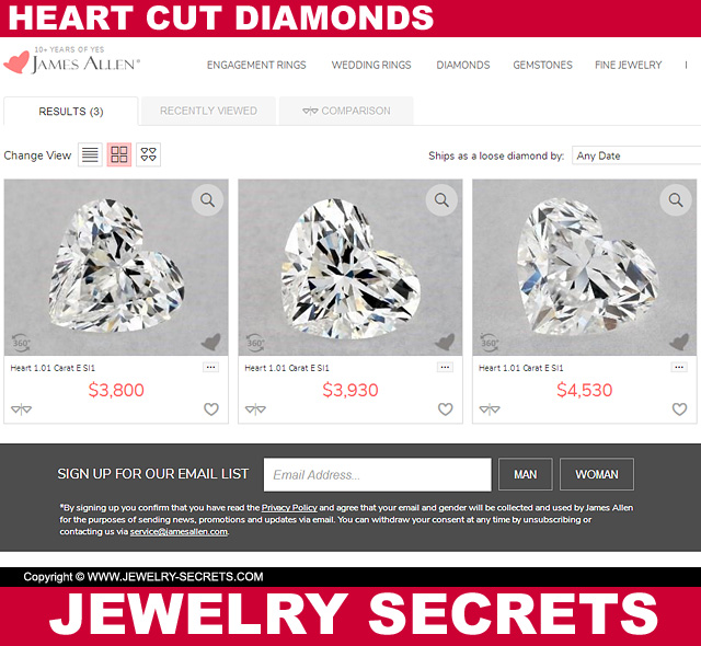 Heart Cut Diamond Prices
