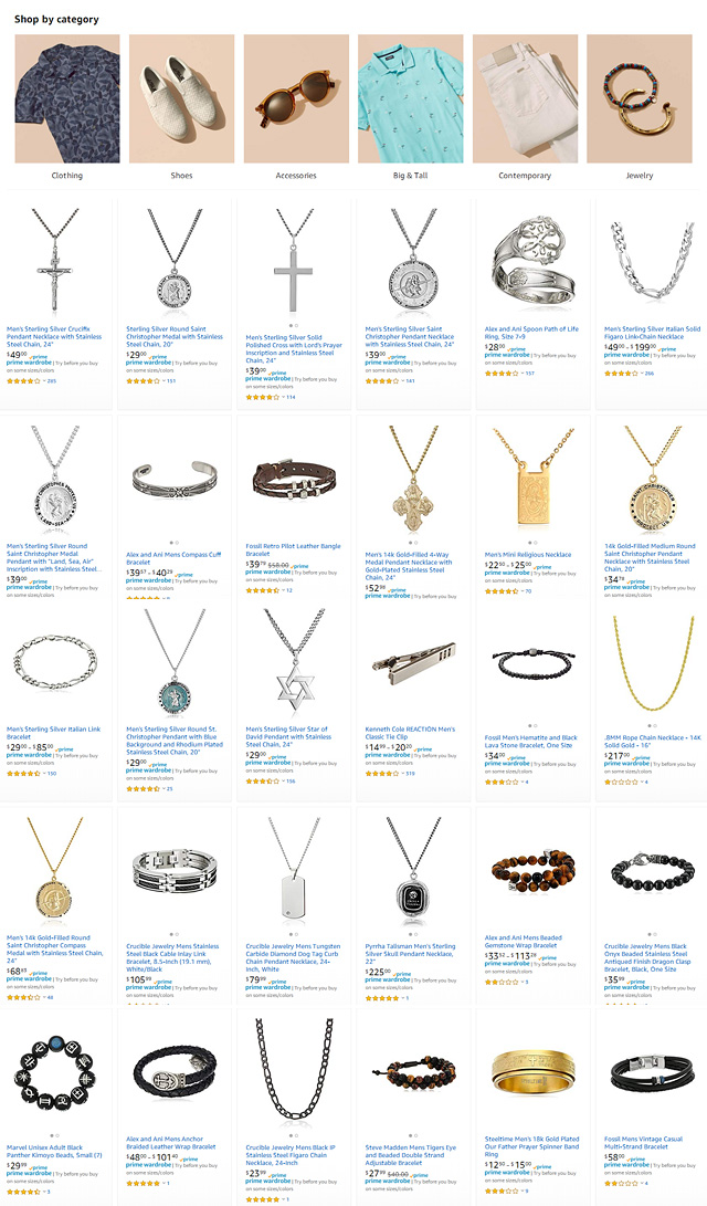 Mens Jewelry Try Before You Buy