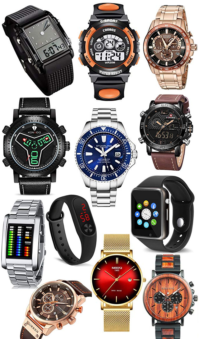 Mens Wrist Watch Graduation Gift