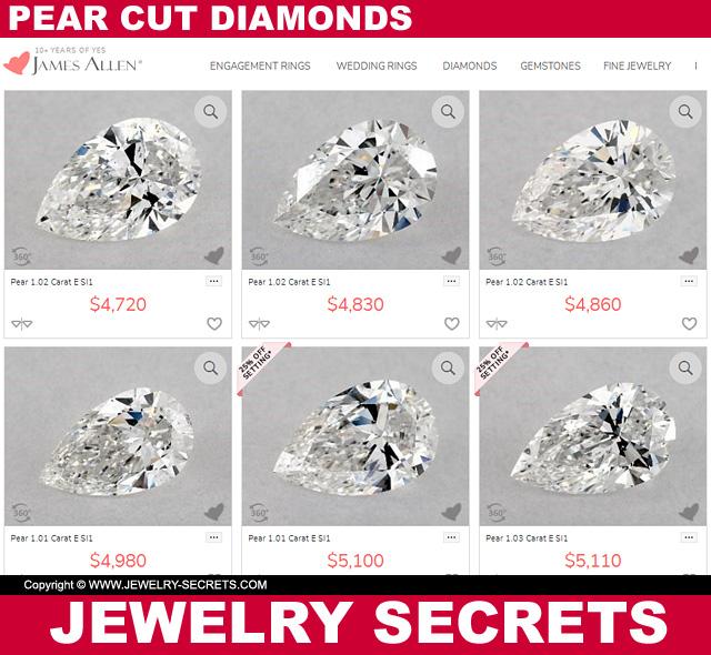 Pear Cut Diamond Prices