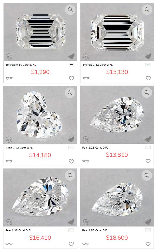 Perfect Fancy Cut Diamonds