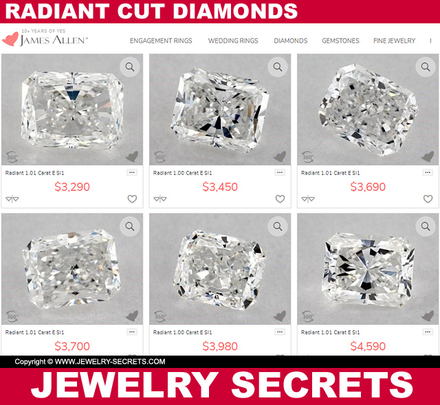 Radiant Cut Diamond Prices