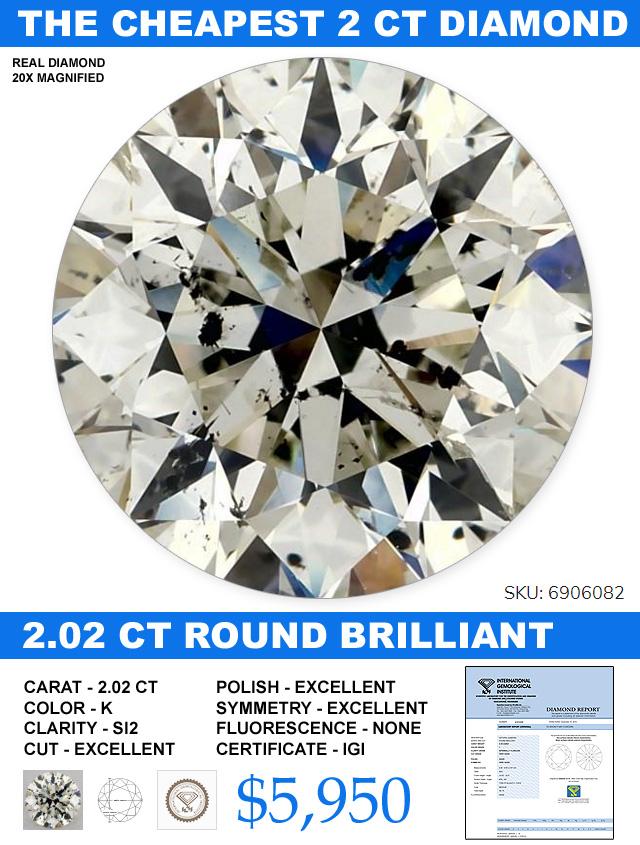 The Cheapest 2 Carat Diamond On The Web