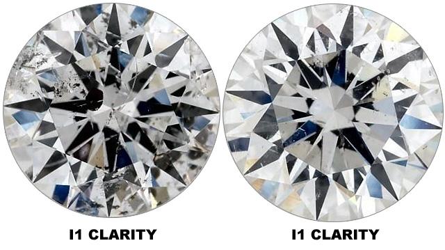 Compare I1 Clarity Diamonds