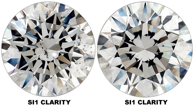 Compare SI1 Clarity Diamonds
