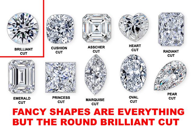 Fancy Shaped Diamonds Are Everything But The Round Brilliant Cut Diamond