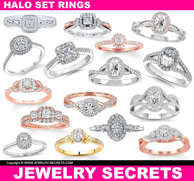 Halo Set Diamond Engagement Rings