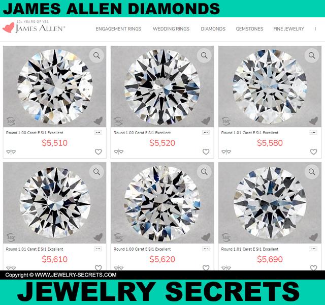 James Allen Diamonds Close Up