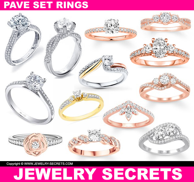 Pave Set Diamond Engagement Rings