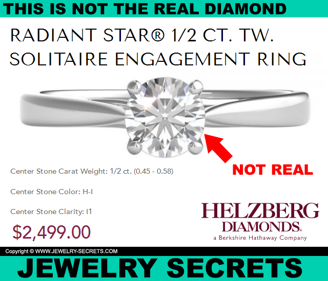 This Solitaire Diamond Is Not The Real Diamond Youd Buy