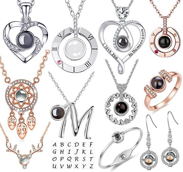 100 I Love You Rings Necklaces Bracelets Earrings