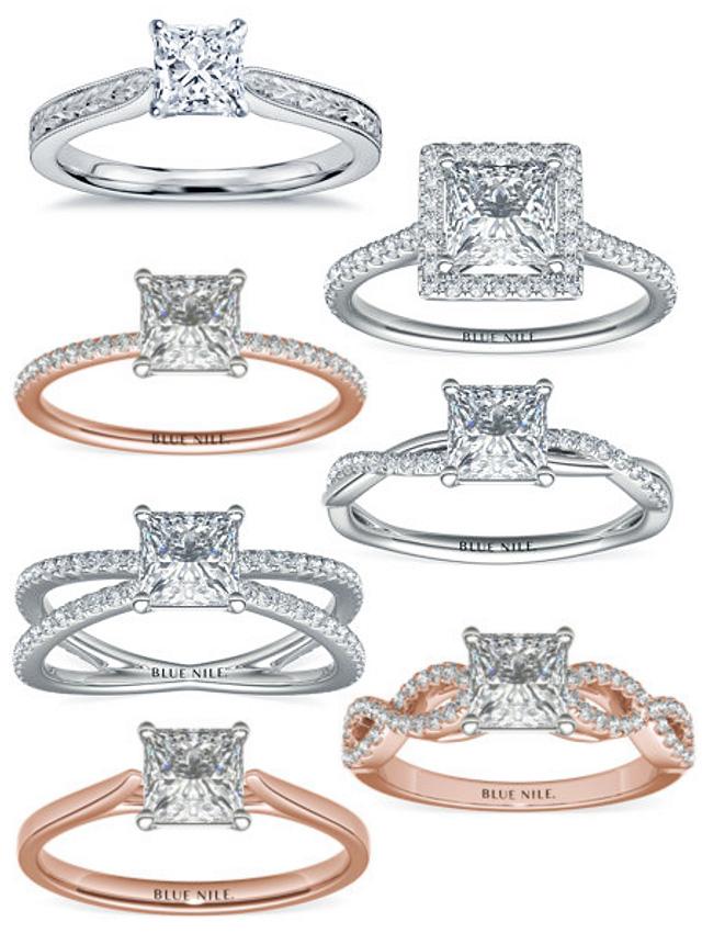 Beautiful Engagement Rings For A Princess Cut Diamond
